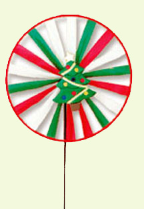 Xmas Tree Single Wind Wheel