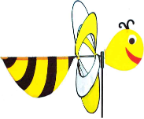 Wind Wheel 3-D Bee
