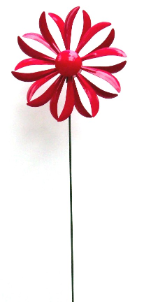 Kinetic Metal Flower Twirler