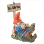 Garden Gnome - On Strike Sleeping Gnome