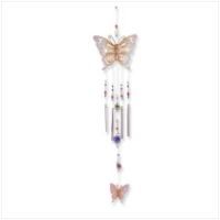 Metal Butterfly w/ Glass beads Chime