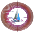 Metal Twirler - 3D Sailboat