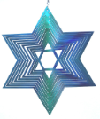 Metal Spinner - Star of David