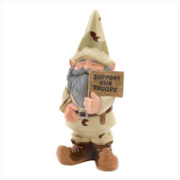 "Garden Gnome - ""Support Our Troops"" Gnome"